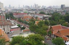 Bangkok vom goldenen Berg Stockfoto