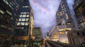 Bangkok vor Sonnenuntergang Stockfotografie
