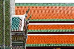 bangkok w świątynnej nieba i kolorów religii mozaice Obraz Stock