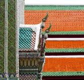 bangkok w świątynnej nieba i kolorów religii mozaice Obrazy Royalty Free