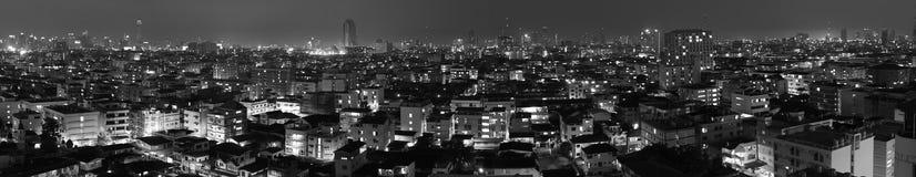 Bangkok w czarny i biały ilustracja wektor