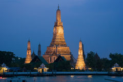 Bangkok - Wat Arun. Wat Arun (Temple of the Dawn) on the banks of the Chao Phraysa River in Bangkok in Thailand Royalty Free Stock Photography