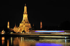 Bangkok, Wat Arun at night Royalty Free Stock Images