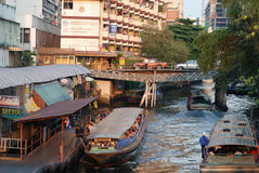 Bangkok Waterway Royalty Free Stock Photography
