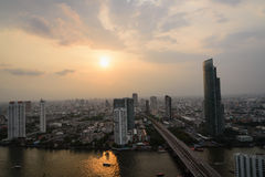 Bangkok widoku noc Zdjęcie Royalty Free