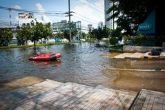 Bangkok worst flood in 2011 Stock Photography