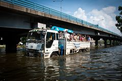 Bangkok worst flood in 2011 Stock Photography