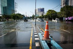 Bangkok worst flood in 2011 Royalty Free Stock Photo