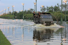 Bangkok worst flood in 2011 Stock Photo