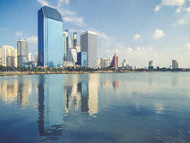 Bangkok wzrosta wysoki budynek Fotografia Stock