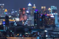Bangkok zamazywał abstrakcjonistycznych tło światła Obraz Stock