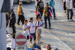 Bangkok zamknięcie: Jan 13, 2014 Obrazy Stock