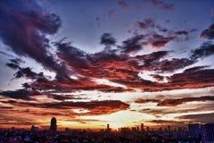 Bangkok zmierzch Zdjęcia Stock