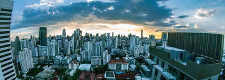 bangkok zmierzch Thailand Obrazy Stock