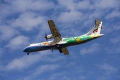 BANGKOKAIRWAY. HS-PGC ATR72-200 BANGKOKAIRWAY, Landing to chiangmai, from bangkok Royalty Free Stock Image