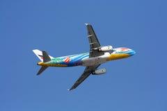 BANGKOKAIRWAY. HS-PGW Airbus A320-200 BANGKOKAIRWAY, Takeoff to bangkok, from chiangmai Stock Photography