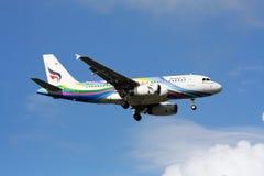 BANGKOKAIRWAY. HS-PGY Airbus A319-100 BANGKOKAIRWAY, Landing to chiangmai, from bangkok Stock Images