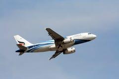 BANGKOKAIRWAY. HS-PGT Airbus A319-100 BANGKOKAIRWAY, Takeoff to bangkok, from chiangmai Royalty Free Stock Photography