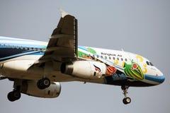 BANGKOKAIRWAY. HS-PGW Airbus A320-200 BANGKOKAIRWAY, Landing to chiangmai, from bangkok Royalty Free Stock Photo