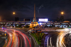 Bangkokcity after the rain at landmark monument Royalty Free Stock Photos