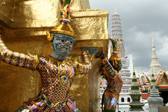 Bangkoks grand palace temple architecture Royalty Free Stock Image