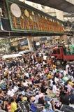 BangkokThailand - 01 13 το 2014 τα κίτρινα πουκάμισα εμποδίζουν Ratchaprasong ως τμήμα της λειτουργίας της Μπανγκόκ ` κλεισίματος Στοκ Φωτογραφία