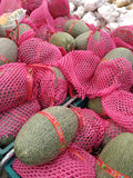 Bangkong, Thailand - on May 29, 2016: Organic fresh melon import. From China at Thailand supermarket stock photo