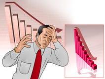 Bangkrupt. Vector illustration of a sad businessman got bangkrupt Royalty Free Stock Images