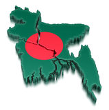 Bangladesch (Beschneidungspfad eingeschlossen) Lizenzfreie Abbildung