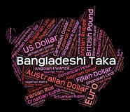 Bangladescher-Taka Represents Foreign Exchange And-Vermittler Lizenzfreies Stockbild