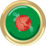Bangladesh. Round gold medal with map and flag from bangladesh royalty free illustration