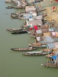 Bangladesh. Houseboats on a river in Bangladesh Royalty Free Stock Photo