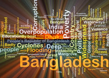 Bangladesh background concept glowing Stock Photography
