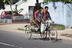 Bangladesh: Bicycle rickshaw Royalty Free Stock Photography