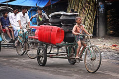 Bangladesh: Bicycle transport Stock Photo