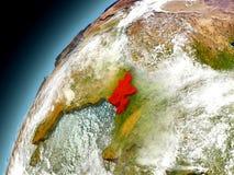 Bangladesh de la órbita de Earth modelo Fotos de archivo libres de regalías