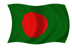 bangladesh flagę Obrazy Stock