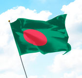 bangladesh flagę Zdjęcia Stock