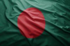 bangladesh flagę Fotografia Stock