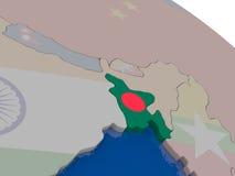 Bangladesh with flag Stock Photography