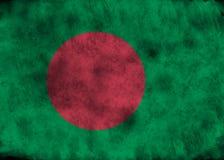 bangladesh flaggagrunge Arkivfoto