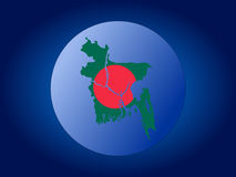 Bangladesh globe Stock Image