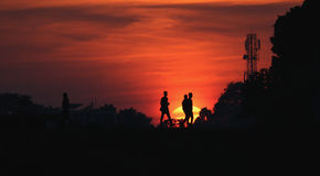 Bangladesh  Godhuli Logon. The Beauty of sunset and Red sky in bangladesh Royalty Free Stock Photos