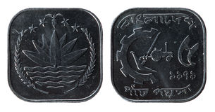 Bangladesh-Münze stockbilder