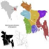 Bangladesh map. Administrative division of the Peoples Republic of Bangladesh stock illustration
