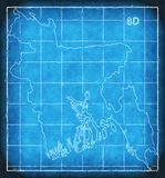 Bangladesh map blue print artwork illustration silhouette Stock Photo