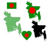Bangladesh map Stock Image