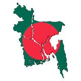 Bangladesh map flag Royalty Free Stock Photography