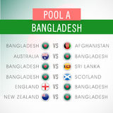 Bangladesh match schedule of World Cup 2015. Royalty Free Stock Image