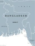 Bangladesh political map Royalty Free Stock Photo